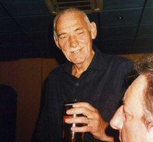 Alan Glazier, July 2005,celebrating John Lowe's birthday