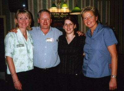 Right to Left - Trina Gulliver, Patrick Chaplin, Clare Bywater & Frances Hoenselaar