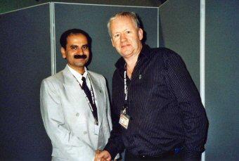Doctor Darts with Prasanta Saha, Secretary General of the All India Darts Association'  (Photo: Moppix)