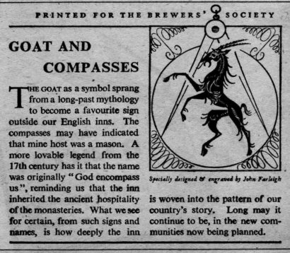 Goat and Compasses news cutting