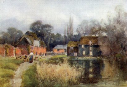 Watercolour - White Hart circa 1914