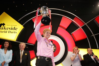 Francis Hoenselaar - Winner of the 2009 Lakeside Ladies World Darts Championship - Photo by Hans Willink.