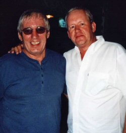 'Dr. Darts with Terry McGovern, Secretary of the Pafos Darts League' (Photo: Moppix)